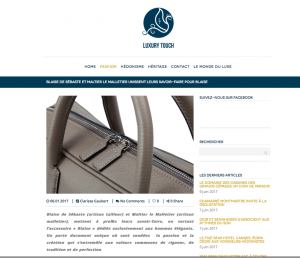 Article Luxury Touch Blaise De Sébaste